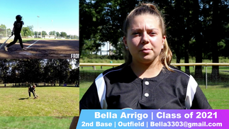 Bella Arrigo NCAA Softball Skills Video Class of 2021 2nd Base Outfield