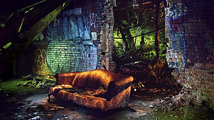 Exploring Dequindre Couch