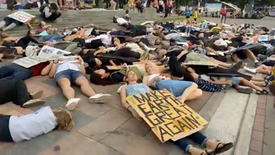 LIVE: Dozens of Climate Strikers play dead today at Thailand's fourth climate strike to demonstrate the dire effects of climate change.