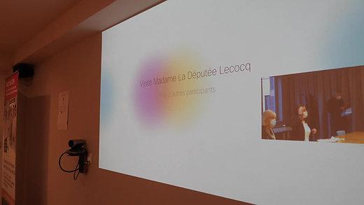 Visite à l'Institut Pasteur de Lille avec ma collègue Brigitte Liso - Novembre 2020