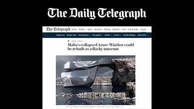 """Daily Telegraph,""""Earthquake destroys famous rock formation in Puerto Rico."""""""