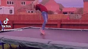 Mila's brilliant trampoline skills!