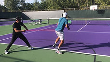 forehand close stand with resistance band
