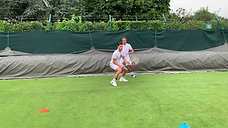 forehand & Backhand volley with resistance band
