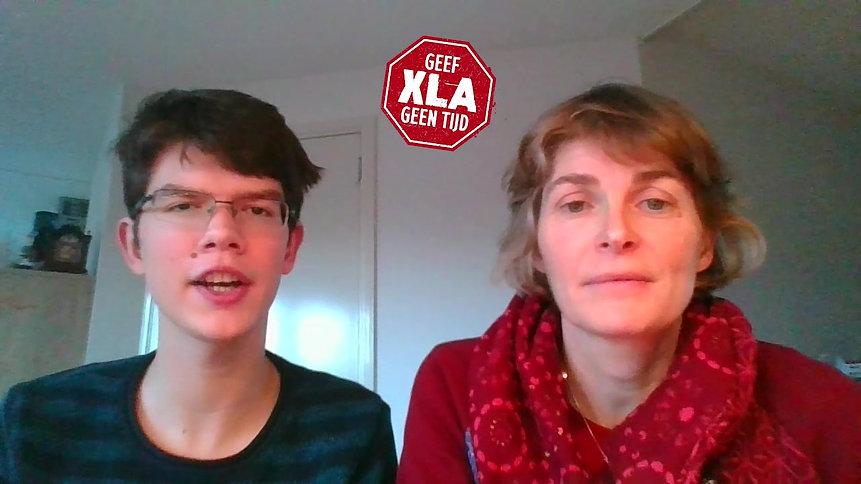 Tom (XLA patiënt) en Marieke (moeder van Tom)