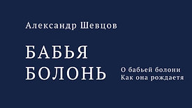 Бабья Болонь. Александр Шевцов