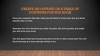 How to get started writing a book