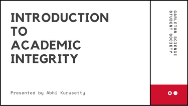 Introduction to Academic Integrity