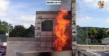 matchboxLive Großversuch Brandüberschlag aus Anbau