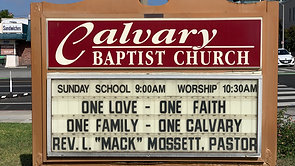 09.12.21 Calvary Baptist Church Worship Service