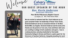 08.01.2021 Calvary 10:30 AM Worship