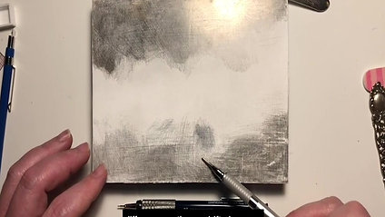 Silverpoint Drawing with Jenny