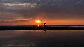 Sunset night Netherlands