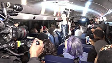 Artist Makes NYFW Debut on a School Bus