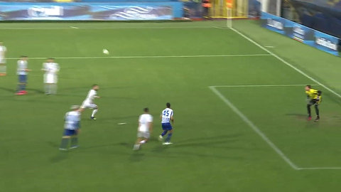 Panagiotis Moraitis shows his predatory instincts by arriving at the back-post to tap home into the opponent 's net. Moraitis had another great game with his new club FK Budućnost, scoring his 2nd goal in 2 games.