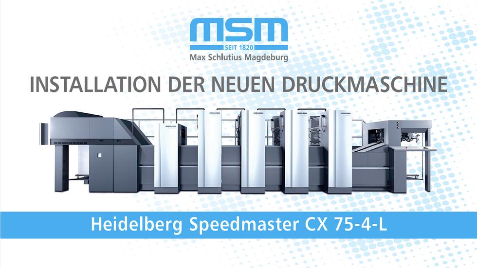 Installation Heidelberg Cx 75-4L
