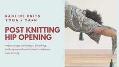 Post knitting hip opening