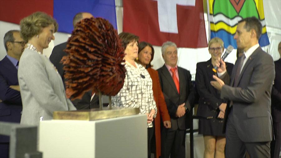 Consegna del Corallo Nautilus al Consigliere Federale Ignazio Cassis