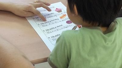 英語だって読めるよ(5歳児)