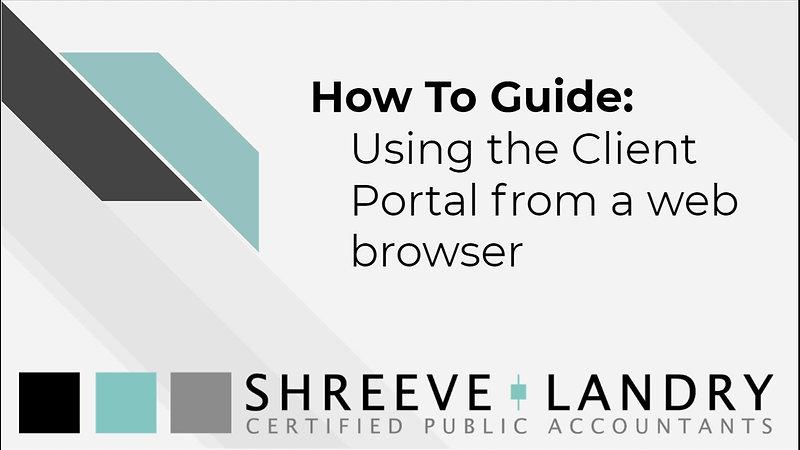 Client Portal Tutorials