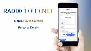 1) RadixCloud - Mobile - Profile Creation