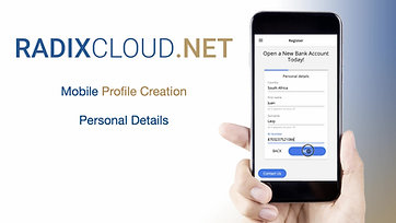 1) RadixCloud - Mobile - Profile Creation