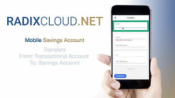 4) RadixCloud - Mobile - Savings Account & Transfers