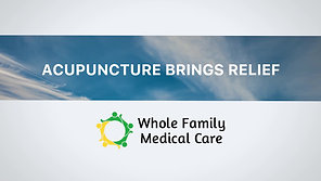 Whole Family on TV: Acupuncture
