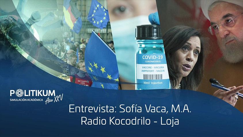 ENTREVISTA SOFÍA VACA - RADIO KOCODRILO (LOJA)
