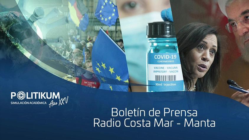 BOLETÍN DE PRENSA - RADIO COSTA MAR MANTA