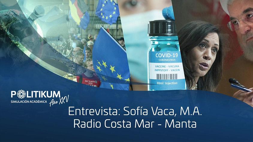 ENTREVISTA SOFIA VACA - RADIO COSTA MAR (MANTA)