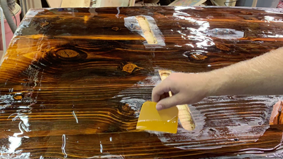 Making of Epoxy Table