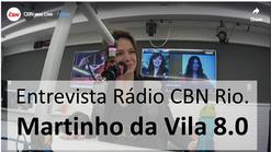 """Entrevista CBN Rio, Peça """"Martinho da Vila 8.0"""""""