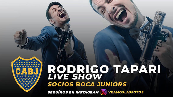 Rodrigo Tapari LIVE SHOW   Boca Juniors