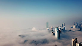 Dubai fog- Drone
