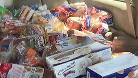 "REGGIE'S VAN FULL OF FOOD FOR HOMELESS  www.mymissionhope.org  Changed help to ""HOPE"""