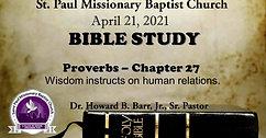 Bible Study Live- April 21, 2021