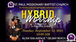 Sunday Morning Worship - 9/12/21