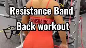 Resistance Band Back Workout