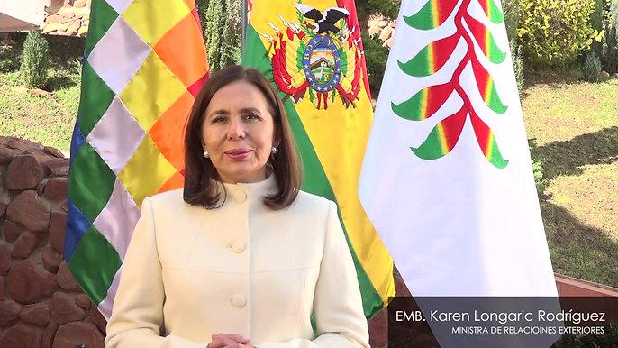 Mensaje de la Ministra de Relaciones Exteriores