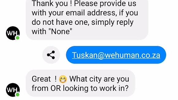 Recruitment via FB Messenger