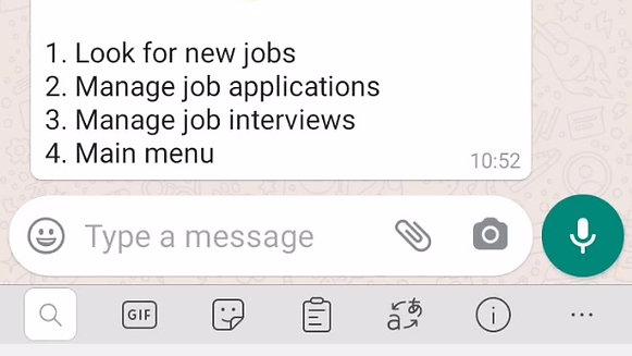 Recruitment via WhatsApp