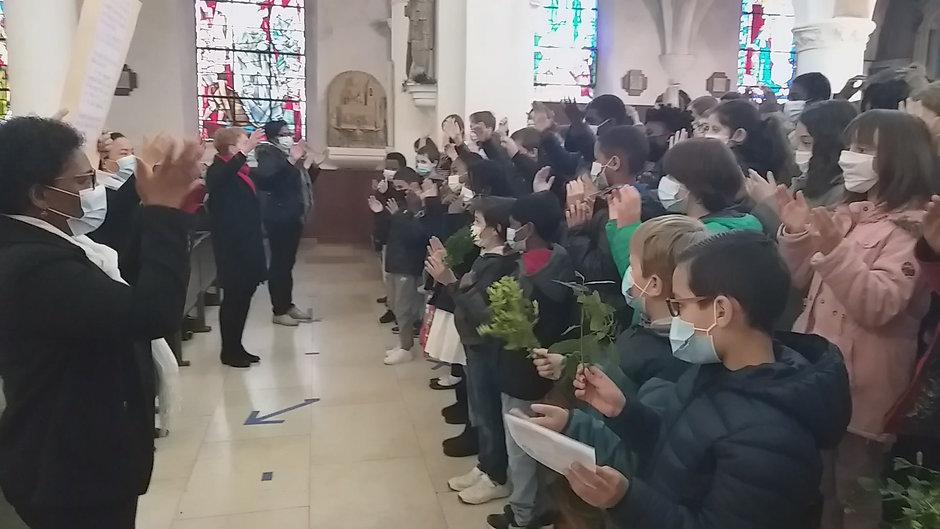Jeudi Saint avec les enfants du KT (église saint André)
