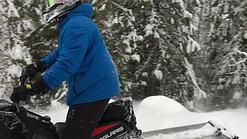 Sledding in winter