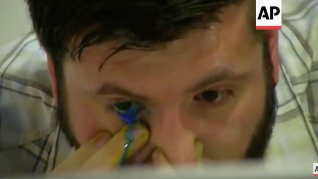 Artist's eye watering technique