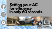 How to efficiently set your air con!