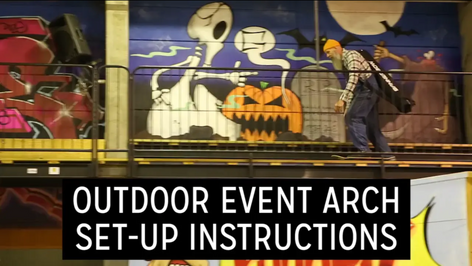 OUTDOOR Event arch set-up instructions