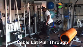 Cable Lat Pull Through