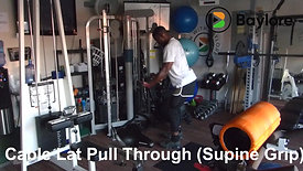 Cable Lat Pull Through (Supine Grip)
