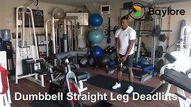 Dumbbell Straight Leg Deadlifts